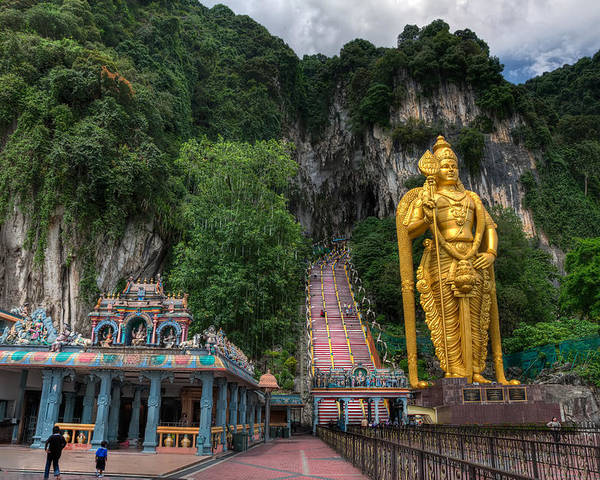 272 Poster featuring the photograph Batu Caves by Adrian Evans