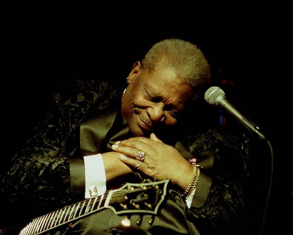 Bb King Poster featuring the photograph Bb King - Straight From The Heart by Bob Guthridge