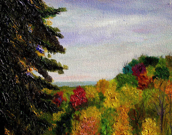 Plein Air Poster featuring the painting bcsp Outlook by Stan Hamilton