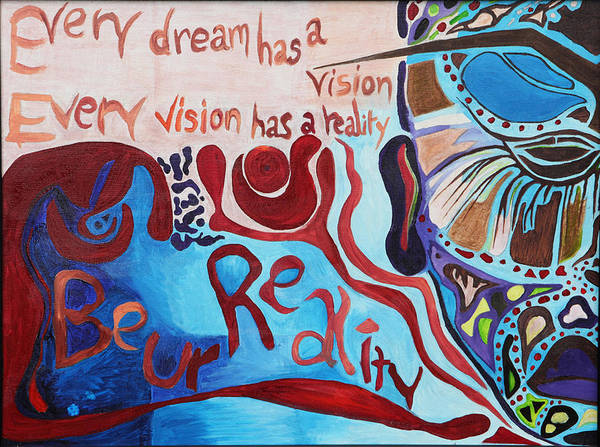 Abstract Poster featuring the painting Be Ur Reality by T Cleo Austin