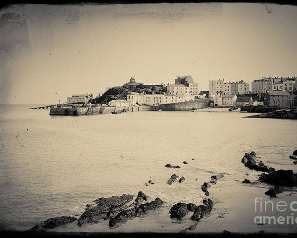 Pembrokeshire Poster featuring the photograph Beach And Harbour In Tenby by A Cappellari