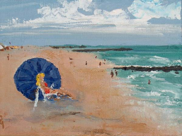 Ocean Poster featuring the painting Beach Blond by Pete Maier
