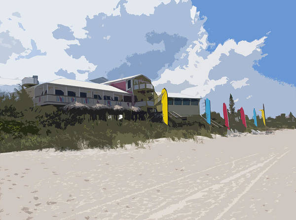 Casino Poster featuring the painting Beach Casino by Allan Hughes