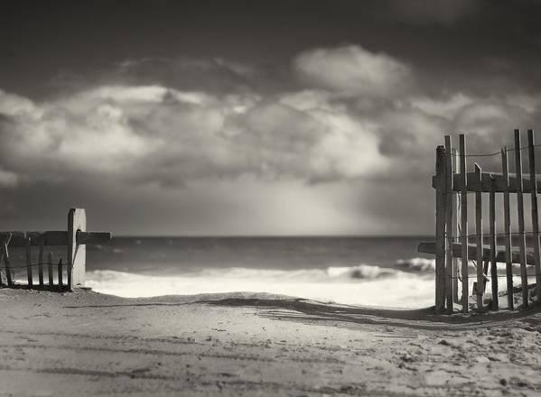 Beach Poster featuring the photograph Beach Fence - Wellfleet Cape Cod by Dapixara Art