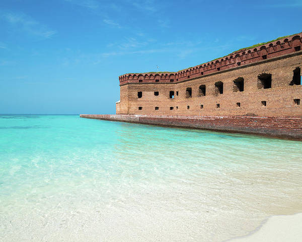 Dry Tortugas Poster featuring the photograph Beach Fort by Kristopher Schoenleber
