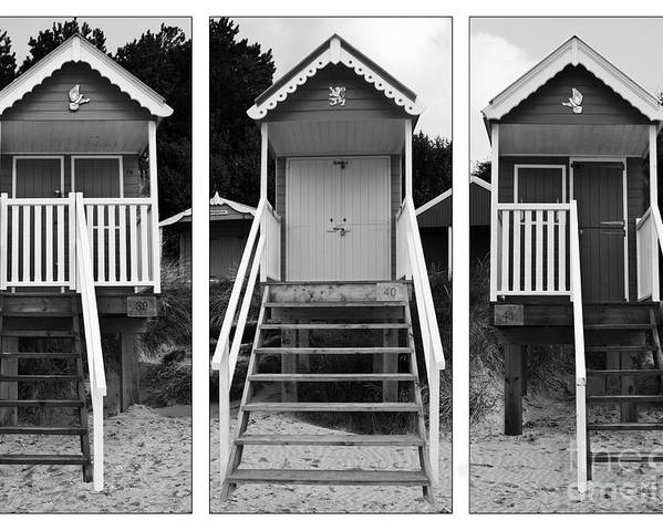 Hut Poster featuring the photograph Beach Hut Triptych by John Edwards