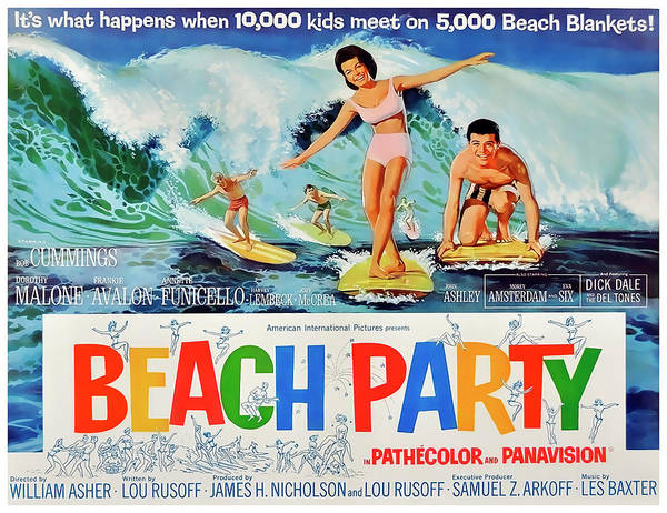 Beach Party Poster Featuring The Photograph Movie Lobby Promotion 1963 By Daniel Hagerman