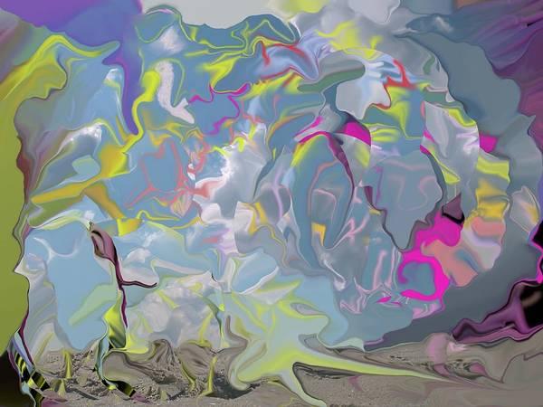 Beach Poster featuring the digital art Beach by Peter Shor