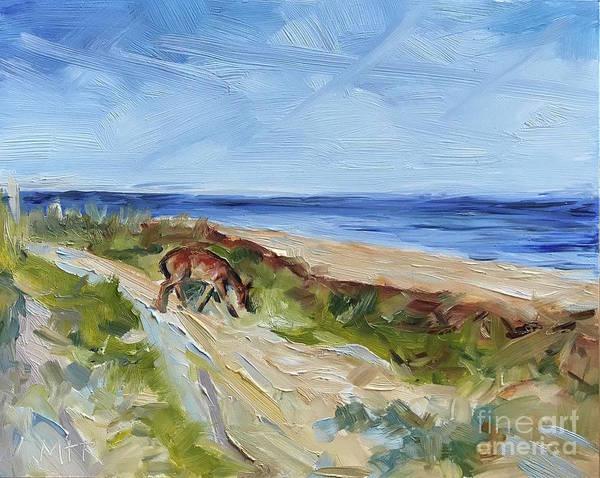 Beach Poster featuring the painting Beach Walk by Maria Reichert