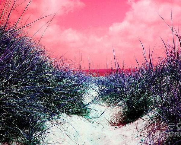 Beach Poster featuring the photograph Beach Worx by Meghann Brunney