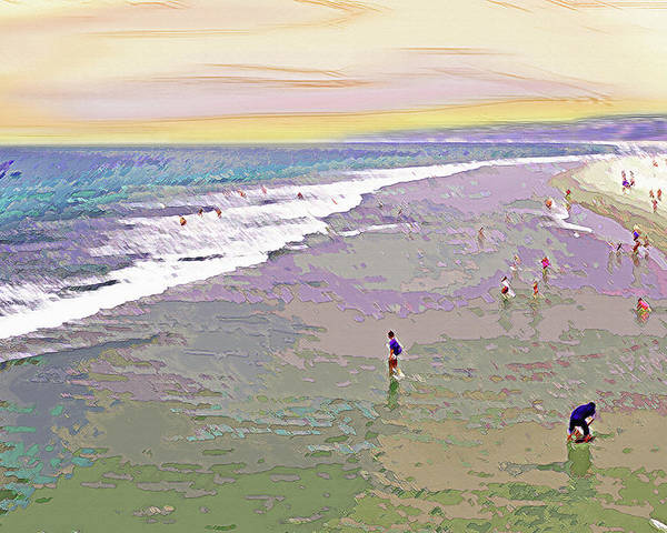 California Poster featuring the photograph Beachgoers 1 by Steve Ohlsen