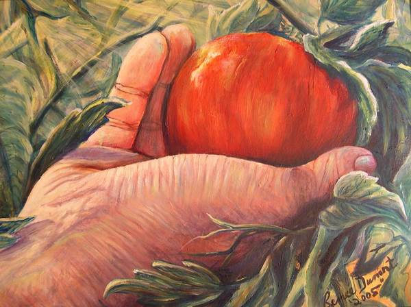 Fruit Poster featuring the print Bearing Good Fruit by Renee Dumont Museum Quality Oil Paintings Dumont