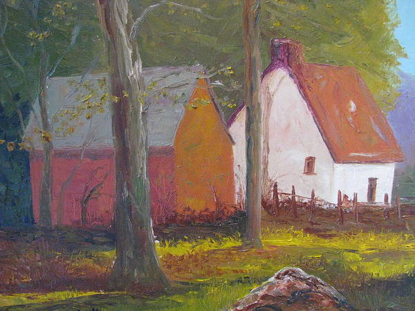 Oil Painting Poster featuring the painting Beekeeper's Cottage by Belinda Consten