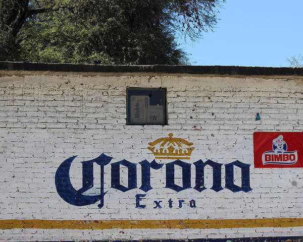 Advertising Art Poster featuring the photograph Beer In Mexico by Cathy Anderson