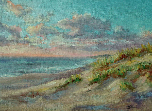 Nauset Beach Poster featuring the painting Before The Crowds by Barbara Hageman