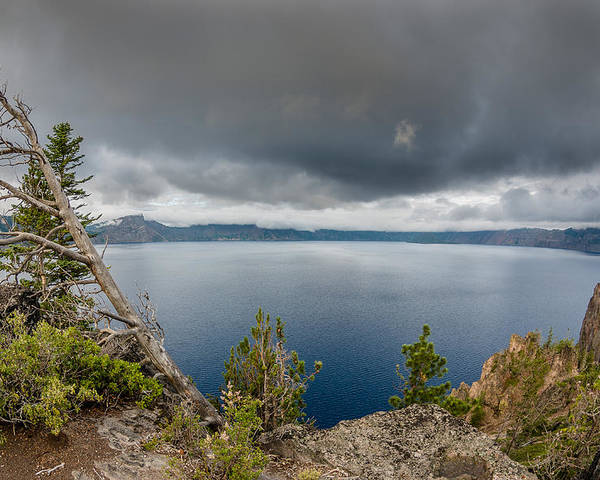 Crater Lake Poster featuring the photograph Before The Storm by Greg Nyquist