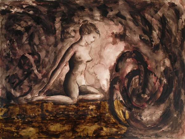 Nude Poster featuring the painting Before Time by Michael Price