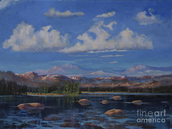 Rocky Mountains Poster featuring the painting Before Winter by Heather Coen