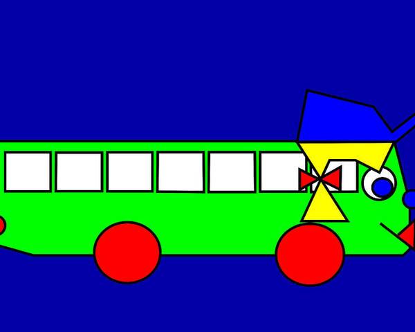 Belinda Poster featuring the digital art Belinda the Bus by Asbjorn Lonvig