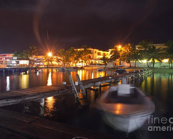 Belizean Night Poster featuring the photograph Belizean Night by Yuri Santin
