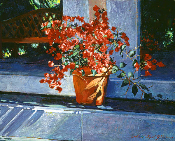 Still Life Poster featuring the painting Bellagio Bougainvillea by David Lloyd Glover