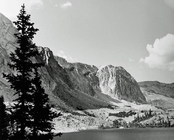 Landscape Poster featuring the photograph Below Medicine Bow by Allan McConnell