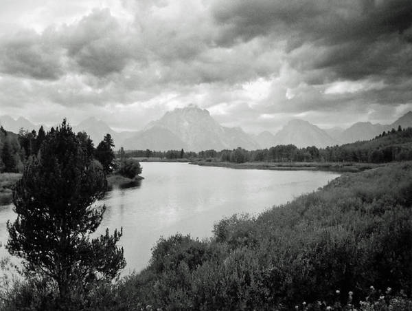 Landscape Poster featuring the photograph Below The Tetons by Allan McConnell