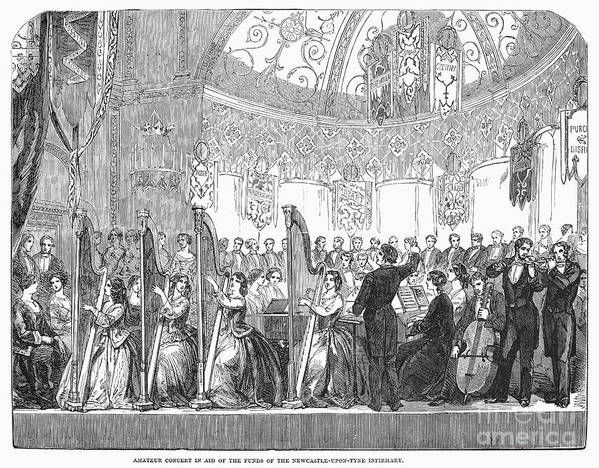 1853 Poster featuring the photograph Benefit Concert, 1853 by Granger