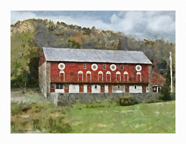 Digital Poster featuring the photograph Berks Barn by Ron Alderfer