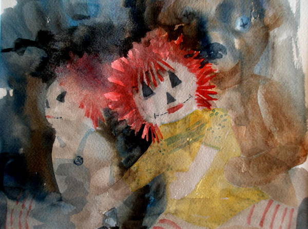 Dolls Poster featuring the painting Best Friends by Lisa Schorr