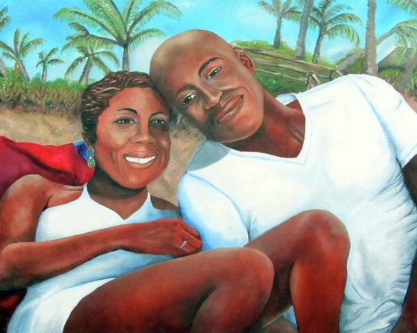 Portrait Poster featuring the painting Best Wishes by Alima Newton