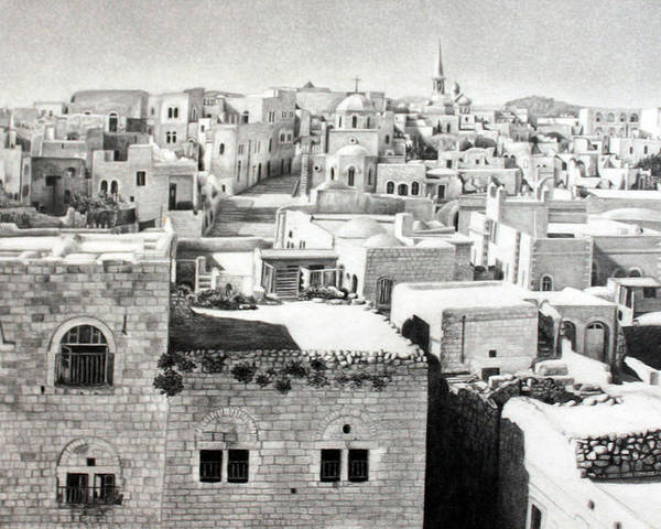Bethlehem Poster featuring the photograph Bethlehem Old Town by Munir Alawi