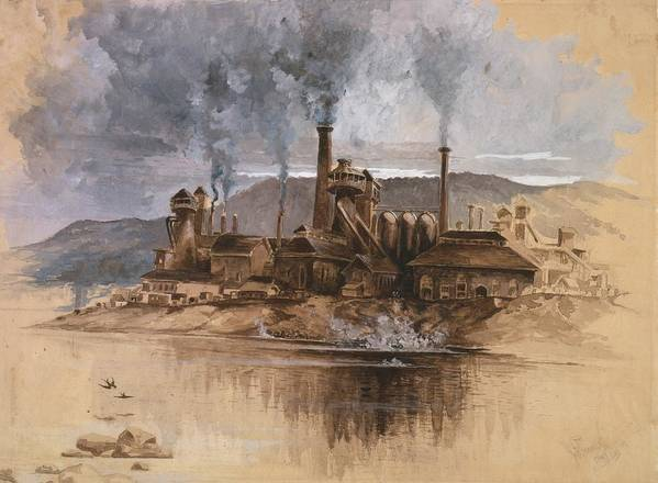 History Poster featuring the photograph Bethlehem Steel Works In May 1881 by Everett