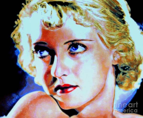 Bette Poster featuring the painting Bette by Wbk