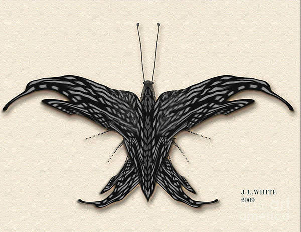 Butterfly--a New Digital Species. Poster featuring the digital art Better Fly by Jerry White