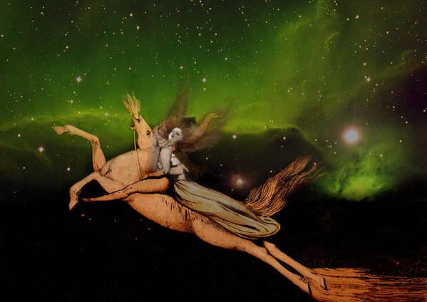 William Blake Poster featuring the digital art Beyond1 by Henriette Tuer lund