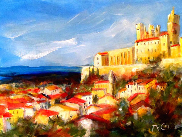 Beziers Poster featuring the painting Beziers by K McCoy
