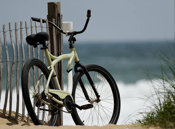 Beach Poster featuring the photograph Bicycle On The Beach by Julie Niemela