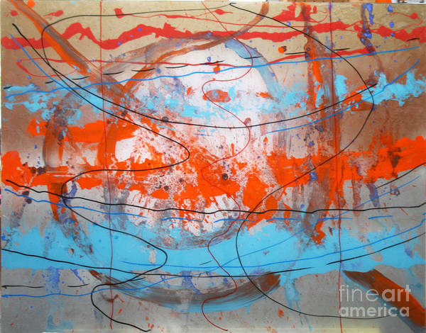 Abstract Poster featuring the painting Big Bang by Mordecai Colodner