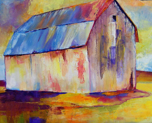 Barn Poster featuring the painting Big Barn I by Peggy Wilson
