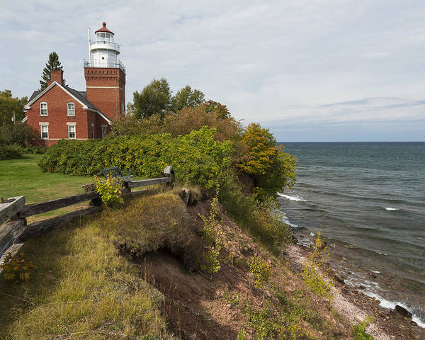 Big Poster featuring the photograph Big Bay Point Lighthouse 2 by John Brueske