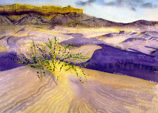 Landscape Poster featuring the painting Big Bend Landscape II by Myrna Salaun