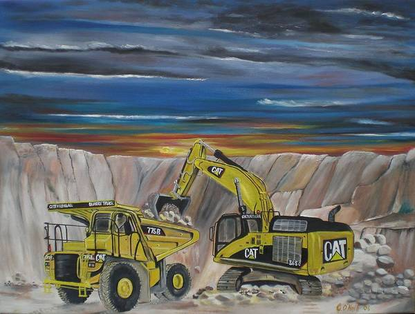 Catepillar Poster featuring the painting Big Cats by Colin O neill