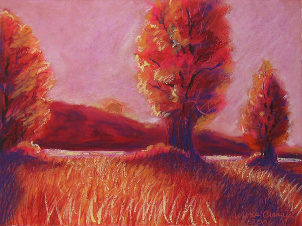 Trees Poster featuring the painting Big Otter Creek - Sunset by Wynn Creasy