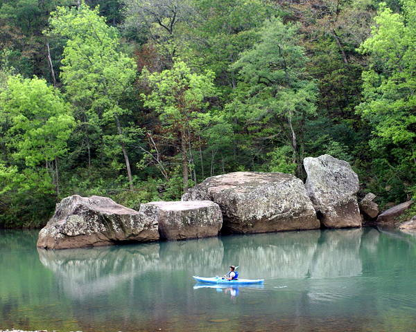 Ozarks Poster featuring the photograph Big Piney Creek 1 by Marty Koch