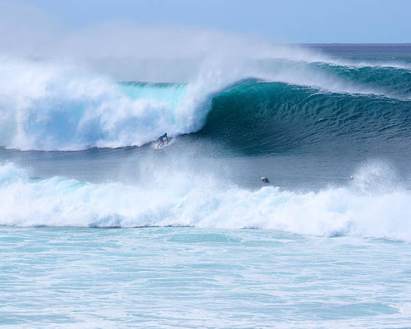 Surfing Poster featuring the photograph Big Pipeline Pro by Kevin Smith