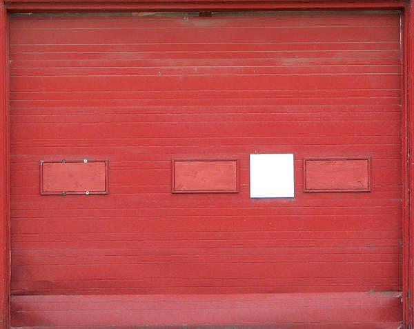 Door Poster featuring the photograph Big Red Door With Accent by Ben Freeman