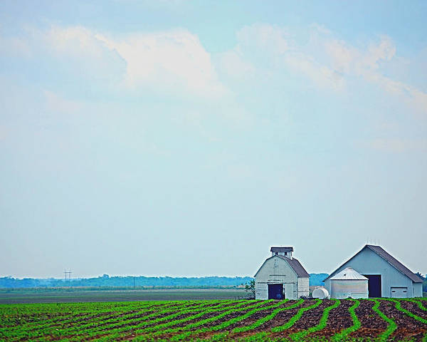 Iowa Poster featuring the photograph Big Sky In Spring by Jame Hayes