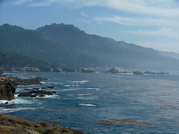 Seascape Poster featuring the photograph Big Sur by Donna Thomas