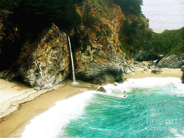 Big Sur Poster featuring the photograph Big Sur Waterfall by Jerome Stumphauzer